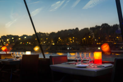 Romantic Evening River Seine Dinner Cruise with Paris connection